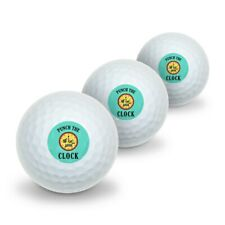 Punch The Clock Funny Humor Novelty Golf Balls 3 Pack