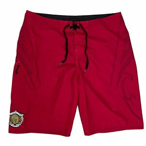 Quicksilver In Memory of Eddie Aikau Board Shorts Men's Size 36-38 Red Would Go