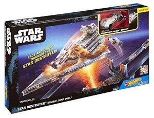 Hot Wheels Track set Star Wars Star Destroyer Double Jump Duel Die Cast Vehicle