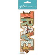 Jolee's Boutique Embellishments Stickers - Travel Title  #939