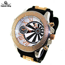 New Hip Hop Men's Fashion Ice Nation Iced Out Bullet Band Analog Watch W1944 New
