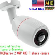 HD 1080P wired 2.0MP AHD camera 180 degree fisheye IR Night Vision lens US stock