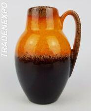 Vintage 1960-70s SCHEURICH KERAMIK 414-16  Fat Lava Vase West German Pottery
