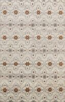Modern Geometric Moroccan Hand-knotted Oriental Area Rug Plush Wool Carpet 5'x8'