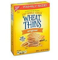 Nabisco Wheat Thins ORIGINAL 1LB, FAMILY SIZE,100% WHOLE GRAIN