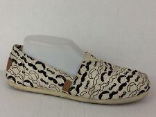 8d88294c143 Steve Madden Girl GLORIEE Womens 9.5 M Canvas Flats Slip On Shoe Black White