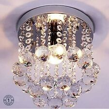 Small Crystal Chandelier Pendant Lamp Shade 1 Light Lamparas De Techo Modernas