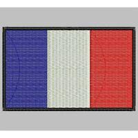 Parche Bordado Bandera de FRANCIA / Embroidery patch Flag of FRANCE..