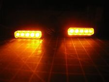 2 Amber LED Motorcycle Turn Signals Accent Marker Front Rear Light Slim Flush R1