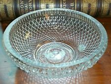 Rare c.1818-1825 New England Glass Co. Flint Glass Bowl Blow Over Mold Pressed