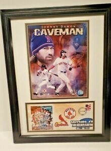 Johnny Damon Caveman Red Sox 2004 World Series Framed Picture