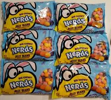 Lot of 6 bags Big Chewy Nerds Jelly Beans Orange Grape Strawberry Candy 13 oz ea
