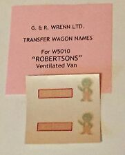 WRENN METHFIX TRANSFERS for wagons - W5010 - ROBERTSONS