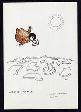 """TAAF Antarctique Carte P.E. Victor Neuve """"l'agence postale"""" Scan recto verso"""