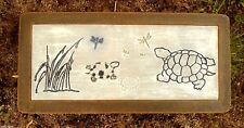 """Turtle Bench top mold with dragonflies plastic mould 31"""" x 14"""" x 2.5"""""""