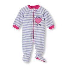 """NWT Children's Place """"Mommy Loves Me"""" Stripe Blanket Sleeper - Girls Size 2T"""