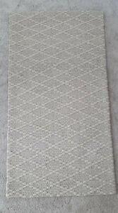 K by KELLY HOPPEN Textured Wool Blend DIAMOND WOVEN RUG 80 × 150 cm
