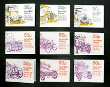 GB Machin 50P AUTO opuscoli 9 diversi Cat oltre £ 40 PERFS in quanto essi provengono fp7325
