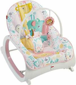 Fisher-Price Infant to Toddler Rocker Bouncer Seat Baby Swing Toy Portable, Pink