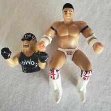 WWF / NWO Vintage Wrestling Finger Puppets - Hulk Hogan - British Bulldog - Rare