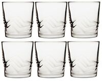 CoK Swirl Pattern Glass Large Tumbler Set Stackable Juice Water Glasses Set 6