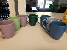 Lot of 7 CORELLE STONEWARE Made In Thailand Coffee/Tea Mugs