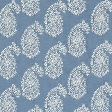 Clarke and Clarke Harriet Chambray Paisley Design Curtain Upholstery Fabric