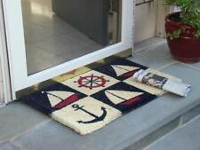 "Nautical Rubber Backed Doormat 18 x 30 "" Anchor Sailboat Rug Mat Entrance New"