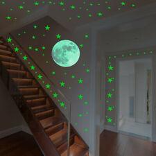 25Pc Glow In The Dark Star Wall Stickers Round Stars Dot Luminous Kid Room Decor