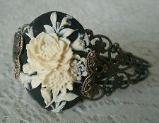 Gothic Rose Cuff Bracelet, goth victorian renaissance steampunk art nouveau