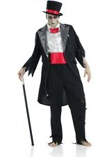 "Mens Corpse's Groom Scary Horror Halloween Fancy Dress Size Large Upto 44"" Chest"