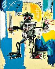 Art Poster Jean-Michel Basquiat Warrior  Pop art  Art Print
