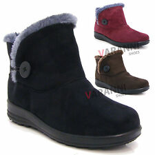 Unbranded Block Heel Suede Lace Up Boots for Women