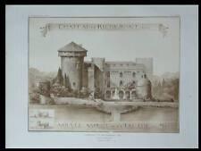 CHATEAU DE RICHEMONT  - 1909 - PLANCHE ARCHITECTURE - DANIS,