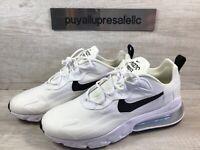 Women's Nike Air Max 270 React White/Metallic Silver/Black CI3899-101 Size 11