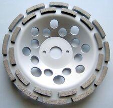 2 x Diamant-Schleiftopf Schleifteller 180 mm 2-reihig  universal Beton Estrich