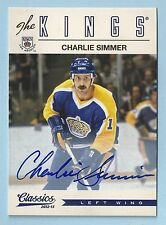 CHARLIE SIMMER 2012/13 CLASSICS THE KINGS AUTOGRAPH AUTO