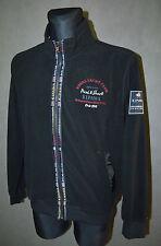 UOMO PAUL & squalo cotone maglione maglia aperta SPORTIVA ZIP NERO TAGLIA XL