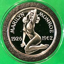 Playboy Pose Marilyn Monroe & Joe DiMaggio Coin 1 Troy Oz .999 Fine Silver Round