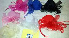Job lot 12 pcs Small Hat Design Hair Fascinator on Hairclip NEW wholesale Lot H