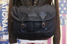 rare Mens Ladies Barbour Tarras Nylon & Leather black messenger shoulder bag