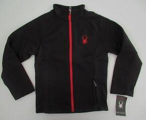 NWT Spyder Boys Black Constant Full Zip Up Mockneck Sweater Jacket S M NEW $89