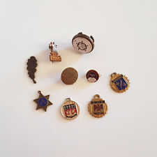 COLLECTION of VINTAGE PIN BADGES & CHARMS etc