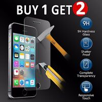 REAL TEMPERED GLASS FILM SCREEN PROTECTOR FOR APPLE IPHONE 5C 5S SE