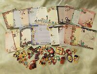 Kawaii San-X Sentimental CircusLoose Mini Memo Sheets 20pcs (2) AND Stickers!!