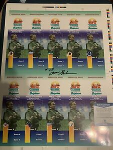 DON SHULA MIAMI DOLPHINS #325 SIGNED 1993 UNCUT TICKET SHEET BECKETT AUTHENTIC