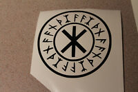 Odin's Protection Symbol, vinyl decals, Norse, VIKING