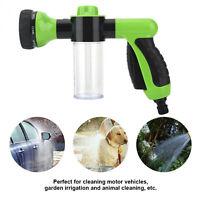 8 in1 Car Wash Brush Foam Gun Garden Hose Nozzle Foam Cannon Bottle Soap Sprayer