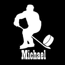 Custom personalised name hockey player sticker vinyl decal car window bumper