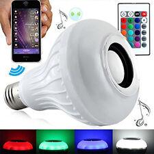 E27 Bluetooth4.0 Control Smart Music Audio Speaker LED RGB Color Bulb Light Lamp